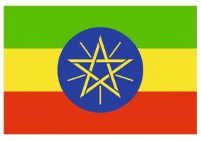 Sticker drapeau Ethiopie