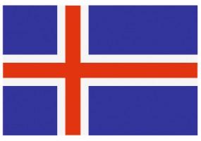 Sticker drapeau Islande