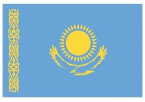 Sticker drapeau Kasakstan