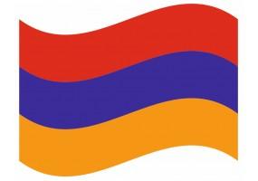 sticker drapeau Flottant Armenie
