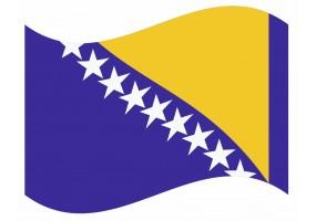 sticker drapeau Flottant Bosnie-Herzegovine