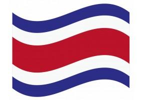 sticker drapeau Flottant Costa-rica