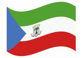 sticker drapeau Flottant Guinée-Equatoriale