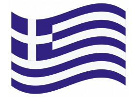 sticker drapeau Flottant Grece