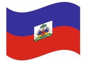 sticker drapeau Flottant Haiti