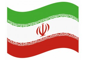 sticker drapeau Flottant Iran