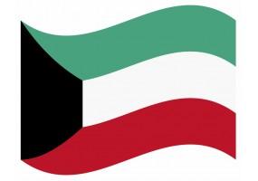sticker drapeau Flottant Koweit