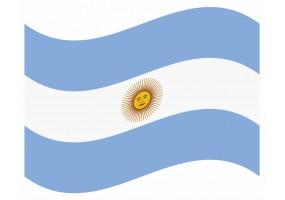 sticker drapeau Flottant Argentine