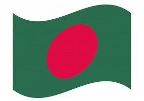 sticker drapeau Flottant Bangladesh