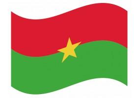 sticker drapeau Flottant Burkina Faso