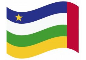 sticker drapeau Flottant République-Centrafricaine
