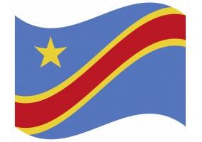 sticker drapeau Flottant République-Démocratique-du-Congo