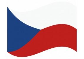 sticker drapeau Flottant République-Tcheque