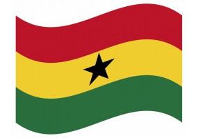 sticker drapeau Flottant Ghana