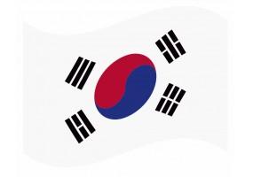 sticker drapeau Flottant Coree- du -Sud
