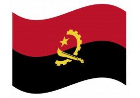 sticker drapeau Flottant Angola