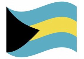sticker drapeau Flottant Bahamas