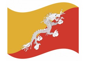 sticker drapeau Flottant Boutan