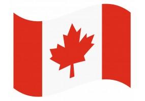 sticker drapeau Flottant Canada