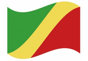 sticker drapeau Flottant Congo