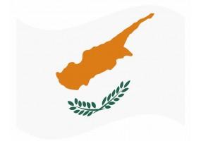 sticker drapeau Flottant Chypre