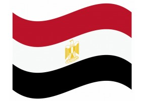 sticker drapeau Flottant Egypte
