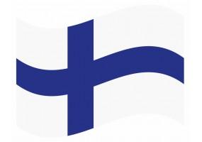 sticker drapeau Flottant Finlande