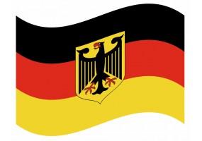 sticker drapeau Flottant Allemagne