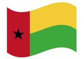 sticker drapeau Flottant Guinee-Bissau