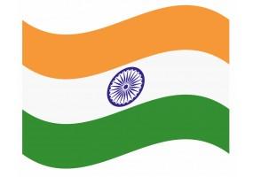 sticker drapeau Flottant Inde