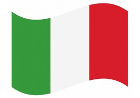 sticker drapeau Flottant Italie