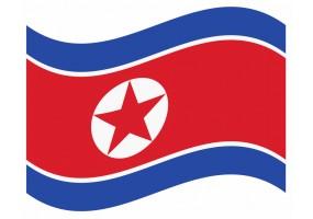 sticker drapeau Flottant Coree-du-Nord
