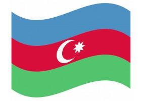 sticker drapeau Flottant Azerbaydjan
