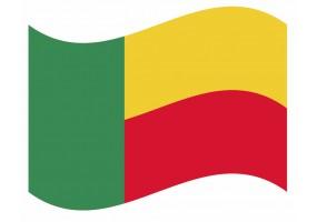 sticker drapeau Flottant Benin