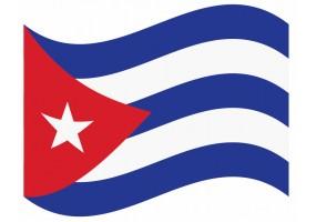 sticker drapeau Flottant Cuba