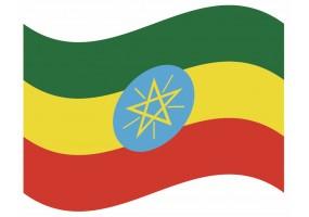 sticker drapeau Flottant Ethiopie
