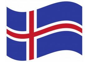 sticker drapeau Flottant Islande
