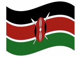 sticker drapeau Flottant Kenya