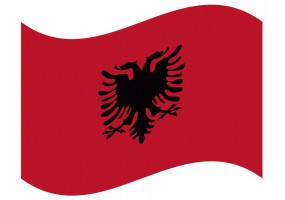 sticker drapeau Flottant Albanie