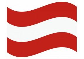 sticker drapeau Flottant Autriche