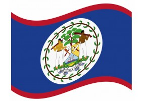 sticker drapeau Flottant Belize