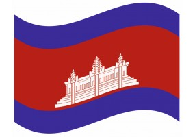 sticker drapeau FlottantCambodge