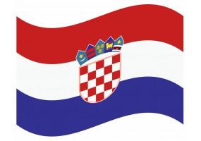 sticker drapeau Flottant Croatie
