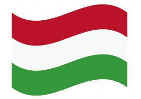 sticker drapeau Flottant Hongrie