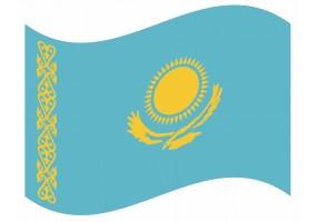 sticker drapeau Flottant Kazakhstan