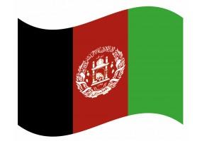 sticker drapeau Flottant Afghanistan