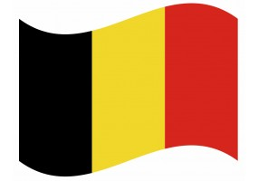 sticker drapeau Flottant Belgique