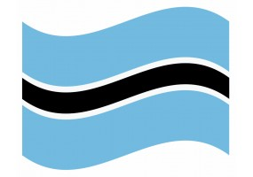 sticker drapeau Flottant Botswana