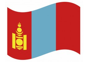 sticker drapeau Flottant Mongolie