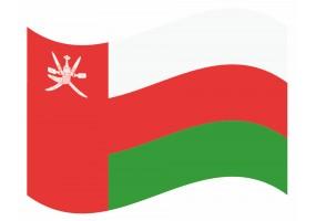 sticker drapeau Flottant Oman